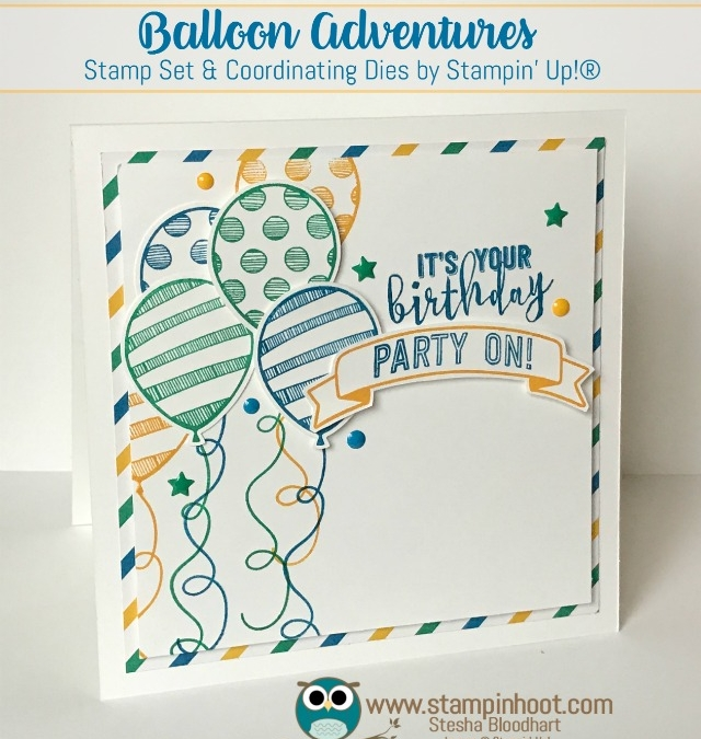 A Fun Birthday Card Using Balloon Adventures