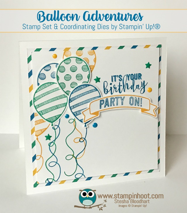 Balloon Adventures Bundle, Party Animal Suite, Retiring May 31st, Get It Before Its Gone!, #birthdaycards, #handmade, #stampinup, #stampinhoot, #papercrafts