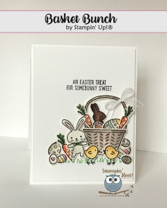 Basket Bunch Bundle, 2017 Occasions Catalog, Easter Card, #stampinup #bunny #chicks #basket Stesha Bloodhart, Stampin' Hoot!