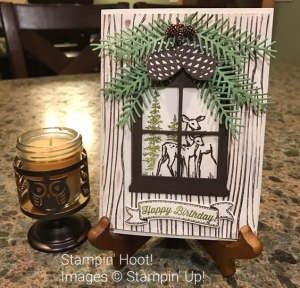 Stampin' Up!, In the Meadow Stamp Set, Deer, Pine Cones, #stampinup #deer #stampinhoot