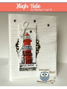 High Tide Stamp Set, 2017 Occasions Catalog, Stampin' Up!, Shine, #stampinup #lighthouse Stampin' Hoot! Stesha Bloodhart
