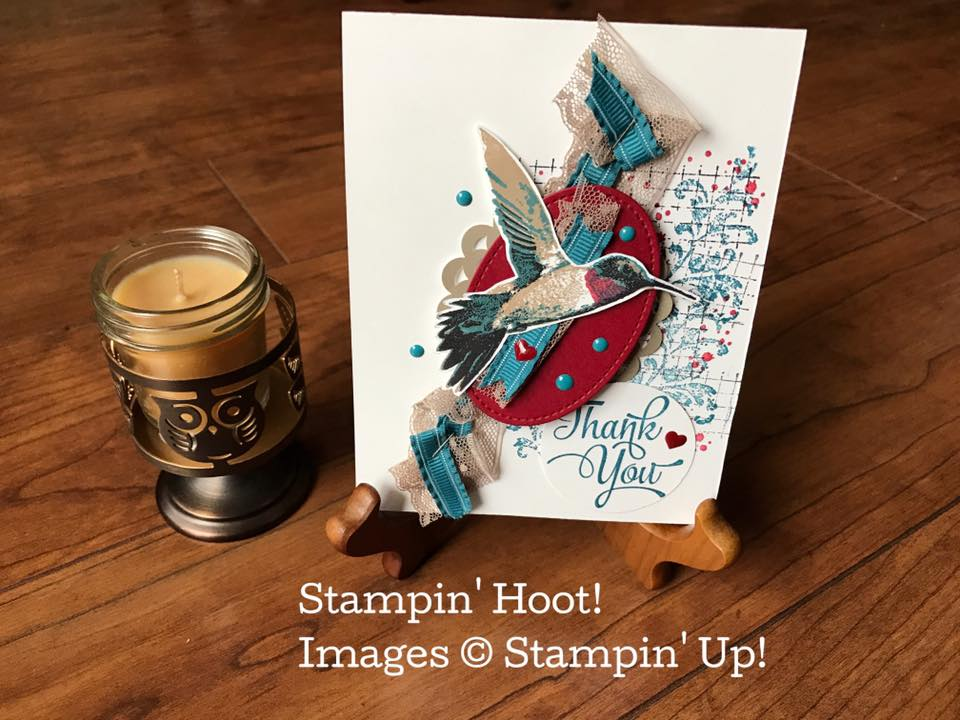 Retiring Stampin' Up! Picture Perfect Stamp Set, Thank You Card, Stampin' Hoot, Stesha Bloodhart