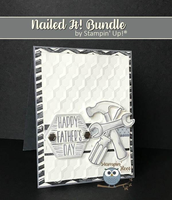 Stampin' Up! Nailed It 2017 Occasions Catalog Masculine Card, #tools #masculine #stampinup Stesha Bloodhart Stampin' Hoot!