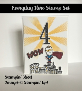Everyday Hero Stamp Set, Stampin' Up! 2017 Occasions Catalog, #stampinup #birthday #superhero, Stesha Bloodhart, Stampin' Hoot!