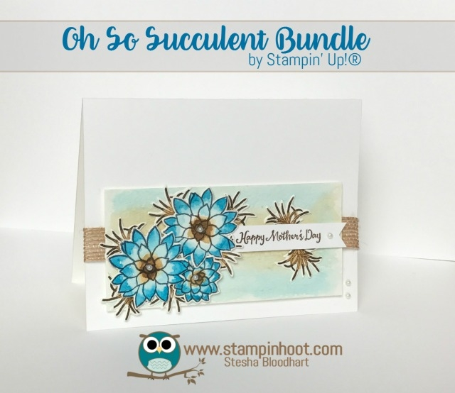 Stampin' Up! Oh So Succulent Stamp Set and Succulent Framelits Dies, Retiring May 31st, While Supplies Last, Stampin' Hoot! Stesha Bloodhart #stampinup, #mothersday #flowers