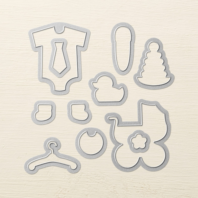 Stampin' Up! Retiring Baby's First Framelits Dies 133735 #baby #stampinup #stampinhoot #retiring