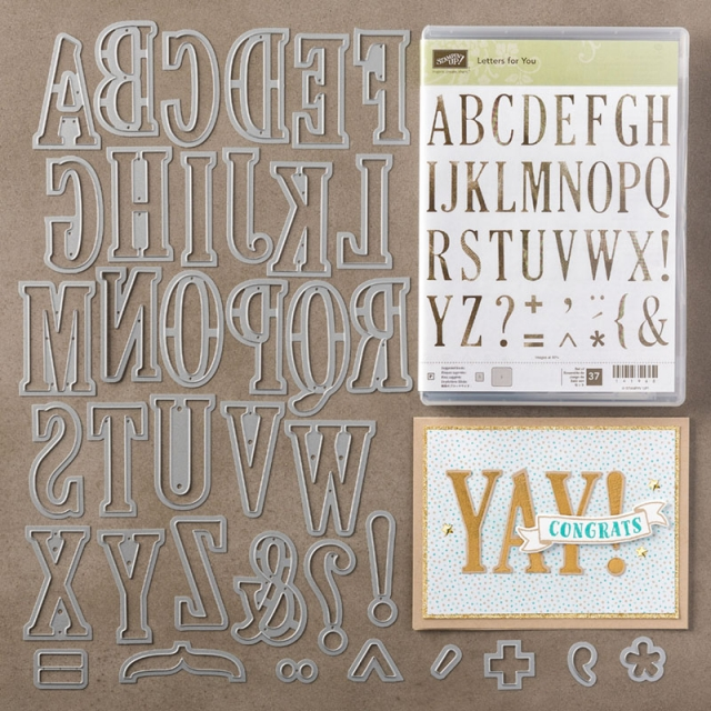 Stampin' Up! Letters For You Photopolymer Bundle 142348 Available Through May 31st, 2017 Stampin' Hoot! #bundles #stampinup #scrapbook