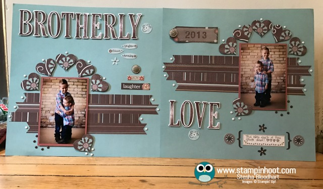 Stampin' Up! Letters for You Stamp Set, Large Letters Framelits Dies, Sweet & Sassy Framelits, #stampinup #scrapbookpage