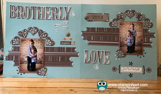Stampin' Up! Letters for You Stamp Set, Large Letters Framelits Dies, Sweet & Sassy Framelits, #stampinup #scrapbookpage
