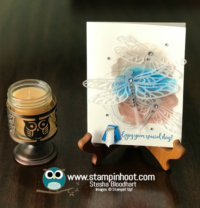 Stampin' Up! Dragonfly Dreams Stamp Set, Detailed Dragonfly Thinlits Dies, Enjoy Your Special Day, Birthday Card, #stampinup #stampinhoot #birthday