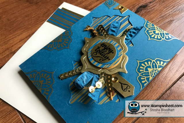 Stampin' Up! Eastern Palace Suite, Eastern Beauty Bundle Early Release with Free Product, Available through May 31st. Dapper Denim In-Color, Stampin' Hoot! Stesha Bloodhart #stampinup #easternbeauty #easternpalace #dapperdenim