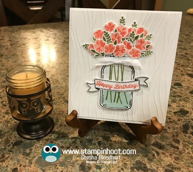 Stampin' Up! Jar of Love Stamp Set, Everyday Jars Framelits Dies, Happy Birthday Card, Bunch of Banners Framelits, #birthday #stampinup #jaroflove