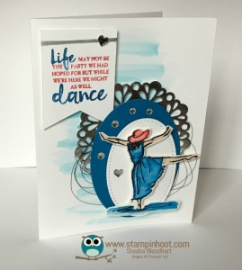 Stampin' Up! Beautiful You Watercolor Card, Might as well Dance, #stampinup #beautifulyou #stampinhoot