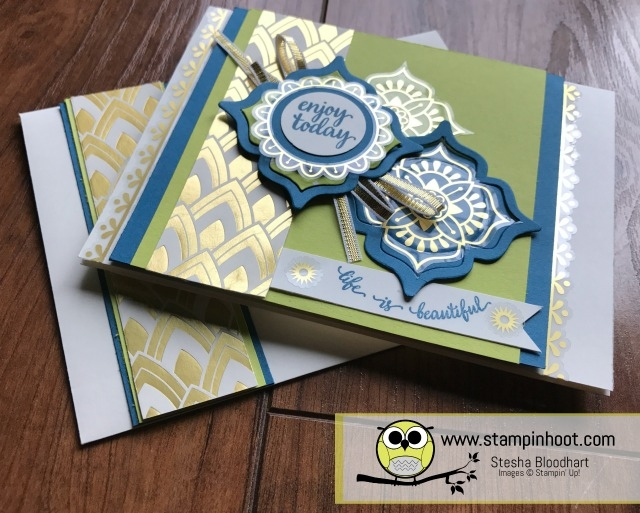 Stampin' Up! Eastern Palace Suite, Eastern Beauty Bundle Early Release with Free Product, Available through May 31st. Lemon-Lime Twist In-Color, Stampin' Hoot! Stesha Bloodhart #stampinup #easternbeauty #easternpalace #lemon-limetwist