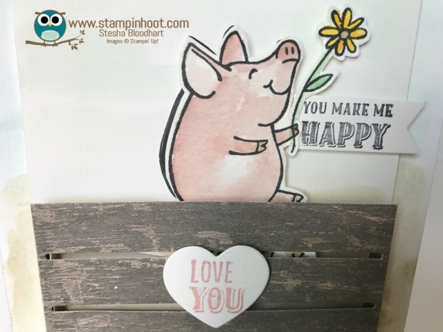 Stampin' Up! This Little Piggy Stamp Set and Wood Crate Framelits #sneekpeak #stampinup #piggy #love