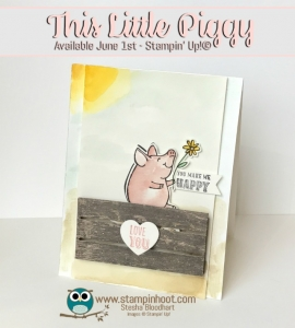Stampin' Up! This Little Piggy Stamp Set and Wood Crate Framelits Sneak Peek, Stampin' Hoot! #stampinup #piggy #sneakpeek