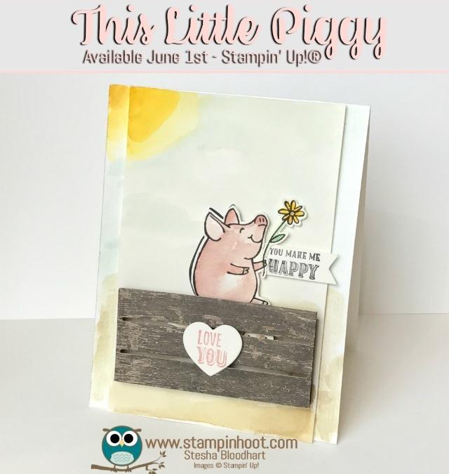 This Little Piggy Stamp Set Makes Me Happy! Sneak Peek!