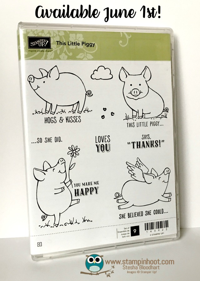 Stampin' Up! This Little Piggy Stamp Set #sneekpeak #stampinup #piggy #love