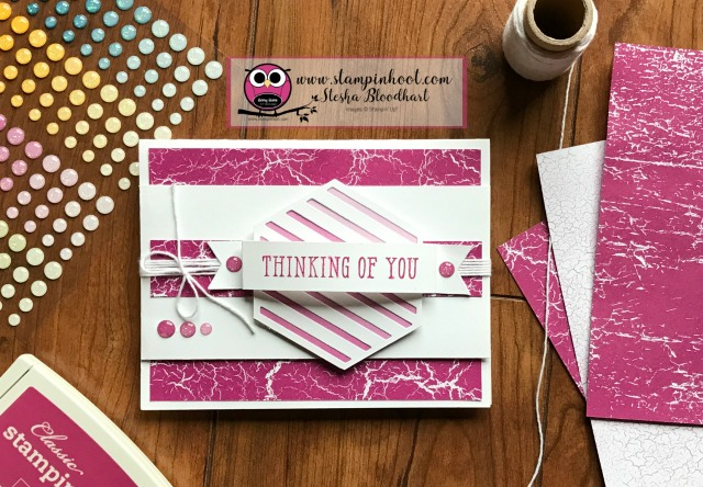 Stampin' Up! Window Shopping Bundle, Window Box Thinlits Dies, Window Shopping Stamp Set, Sneak Peek Glitter Enamel Dots, Color Theory Designer Series Paper, Stampin' Hoot! #stampinup #windowshopping #stampinhoot #sneakpeek