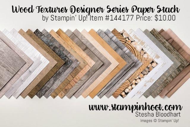 Stampin' Up! Wood Textures Designer Series Paper Stack, Shop Stampin' Hoot! Stesha Bloodhart #masculine #stampinup #woodtextures #stampinhoot