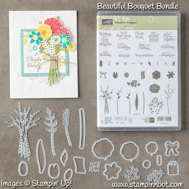 Stampin' Up! Beautiful Bouquet Photopolymer Bundle 145297, Purchase at Stampin' Hoot! Stesha Bloodhart #stampinup #beautifulbouquet
