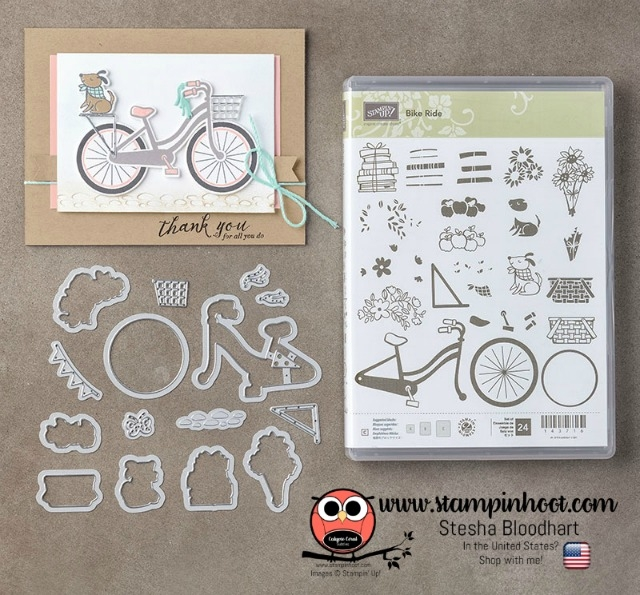 Stampin' Up! Build a Bike Photopolymer Bundle Available at Stampin' Hoot! www.stampinhoot.com Stesha Bloodhart #stampinup #buildabike #bundle #stampinhoot