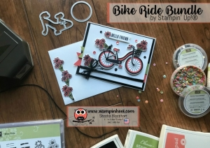 Stampin' Up! Bike Ride Photopolymer Bundle, Bike Ride Stamp Set and Build a Bike Framelits Dies, Along with #GDP089 Global Design Project 089 Color Challange, Stampin' Hoot! Stesha Bloodhart #stampinup #stampinhoot