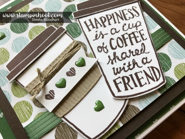 Stampin' Up! all New Coffee Cafe Bundle, Create perfect cards for your coffee drinking friends. Coffee Break Suite of Product. Check out my blog. www.stampinhoot.com #stampinup #stampinhoot #stesha #coffee #handmadecards #papercrafts