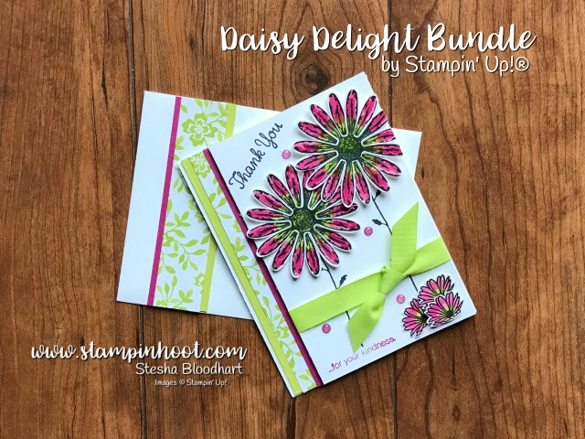 Stampin' Up! Daisy Delight Bundle, Daisy Delight Photopolymer Stamp Set, Daisy Punch, New at Stampin' Hoot!, Stesha Bloodhart #daisydelight #daisybundle #daisypunch #stampinup #lemon-limetwist #berryburst
