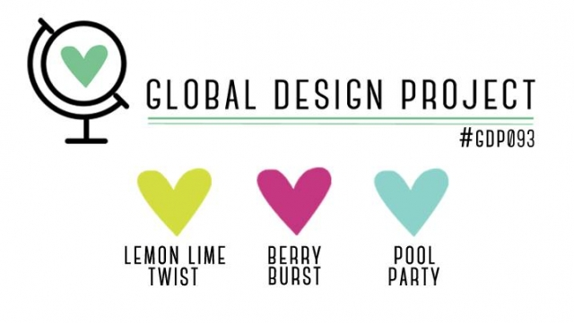 Global Design Project Guest Designer Stesha Bloodhart for Color Challenge 093 Lemon-Lime Twist, Berry Burst and Pool Party #GDP093 #SteshaBloodhart #GuestDesigner #stampinup #stampinhoot