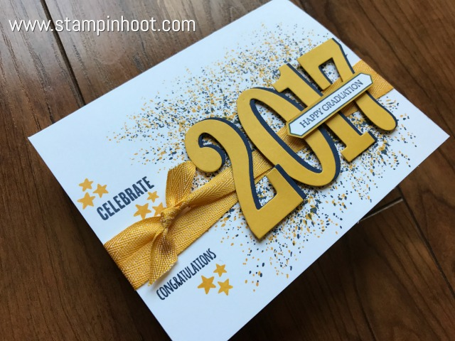 A Graduation Card Using Large Numbers Framelits!