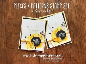 Pieces & Patterns Stamp Set and Pick a Pattern Suite by Stampin' Up found at Stampin' Hoot, Stesha Bloodhart, Inspiration, Tips and Tricks for Paper Crafts, Handmade Cards #stampinup #pickapattern #stampinhoot #hello #handmadecards