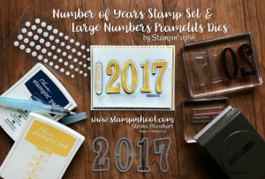 Stampin' Up! Large Numbers Framelits Dies are Perfect for a Quick Graduation Card of any Color! Stampin' Hoot! Stesha Bloodhart #stampinup #stampinhoot #graduation #handmadecard #watercolor