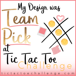 My Design was Team Pick at Tic Tac Toe Challenge, Stampin' Hoot Stesha Bloodhart