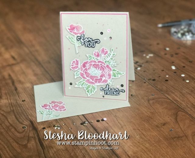 Birthday Blooms Stamp Set by Stampin' Up! for Global Design Project 097 Color Challenge Crumb Cake, Berry Burst, Wild Wasabi find at Stampin' Hoot, Stesha Bloodhart #GDP097 #stampinup #colorchallenge #birthdayblooms #embossing #flowers #cardmaking #handmade #imadethis #demonstrator #fussycutting