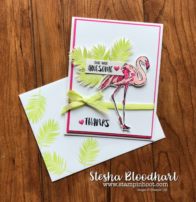 A Fabulous Flamingo Thank You Card