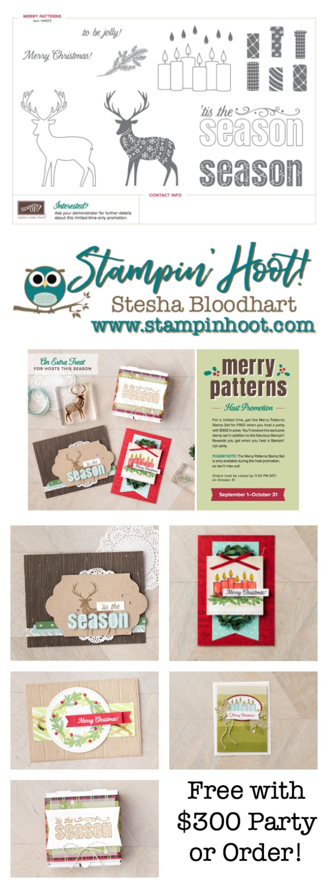Merry Patterns Promotion September October 2017 Free With $300 Purchase or Party Order #promotions #stampinup #merrypatterns