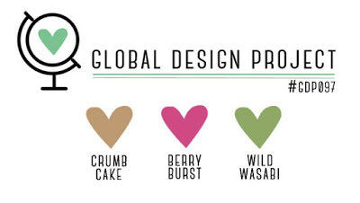Global Design Project Color Challenge 097 Crumb Cake, Berry Burst, Wild Wasabi by Stampin' Up! #GDP097