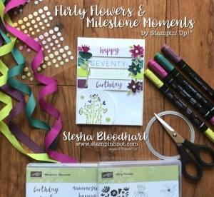 Flirty Flowers and Milestone Moments Stamp Sets by Stampin' Up Make a Fabulous In-Color Birthday Card for Global Design Project 094 Sketch Challenge #GDP094 #cards #globaldesignproject #stampinup #stesha #incolor
