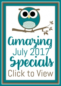 Stampin' Up! Amazing July 2017 Specials found at Stampin' Hoot! Stesha Bloodhart Bonus Days, Christmas In July and Hoot Loot! #specials #hootloot #stampinup #bonusdays #christmasinjuly