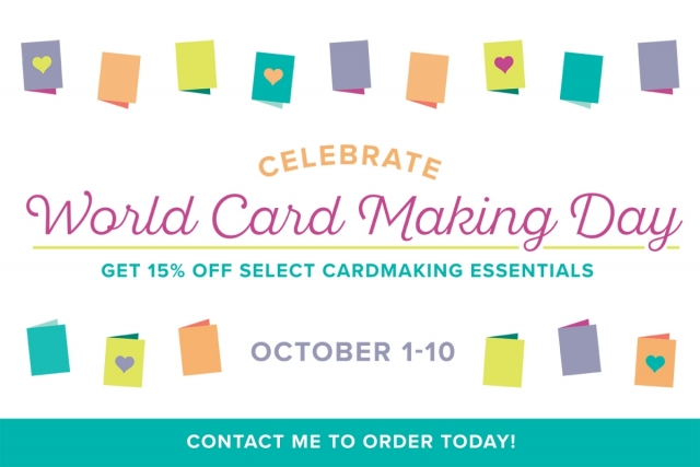 World Card Making Day Specials October 1st - 10th #stampinup #worldcardmakingday #freefastfuse