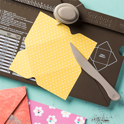 Envelope Punch Board from Stampin' Up! Item Number 133774 Shop Online at Stampin' Hoot! Stesha Bloodhart #envelopepunchboard #stampinup #stampinhoot #papercrafts #cardmaking #envelopes #3dboxes