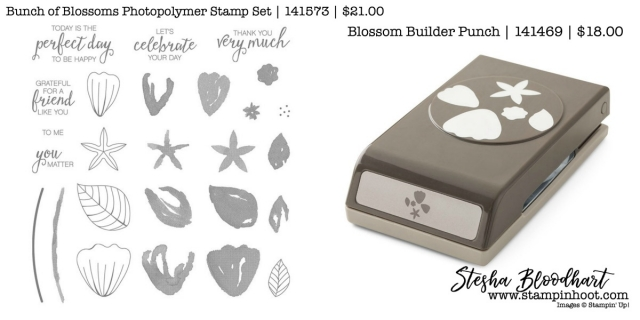Bunch of Blossoms Photoplymer Stamp Set by Stampin' Up! and Coordinating Blossom Builder Punch #stampinup #blossombuilderpunch #bunchofblossoms