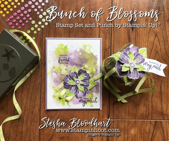 Bunch of Blossoms Stamp Set and Coordinating Blossom Builder Punch by Stampin' Up! Take front and center for my 3-D Thursday Blog Post. See details at Stampin' Hoot! Stesha Bloodhart #3dthursday #bunchofblossoms #blossombuilderpunch #lemonlimetwist #tinytreatboxes #stampinup #stampinupcards #stampinupdemonstrator #cards #papercrafts #scrapbooking #rubberstamps #handmadecards #cardstock #handstamped #diy #cardmaking #imadethis #handmade #diycrafts #crafty #directsales #demonstrator #pocketsandpages #cardpacks #memoriesandmore #memories #stesha #watercolor #coloring #stampsinksdies #stampinhoot #steshabloodhart #bigshot #framelits #thinlits @stampinup