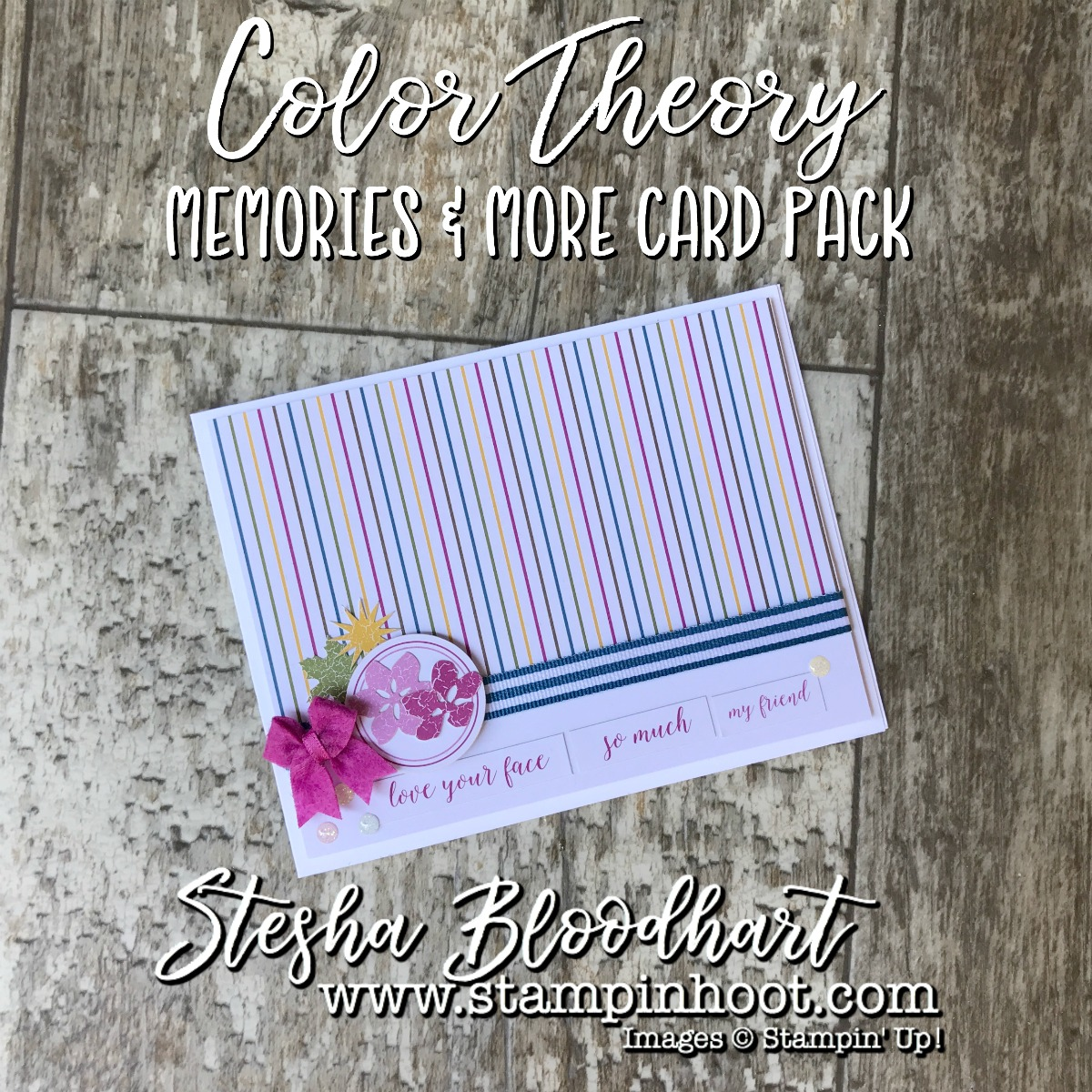 Color Theory Memories & More Card Packs by Stampin' Up! Make for Quick & Easy Cards-on-the-Go! No Stamps Necessary! See details on my blog! Stampin' Hoot! Stesha Bloodhart #memories&more #stampinup #stampinhoot #quickcards #papercrafts #scrapbooking #cardmaking #handmadecrafts #ididthis #demonstrator