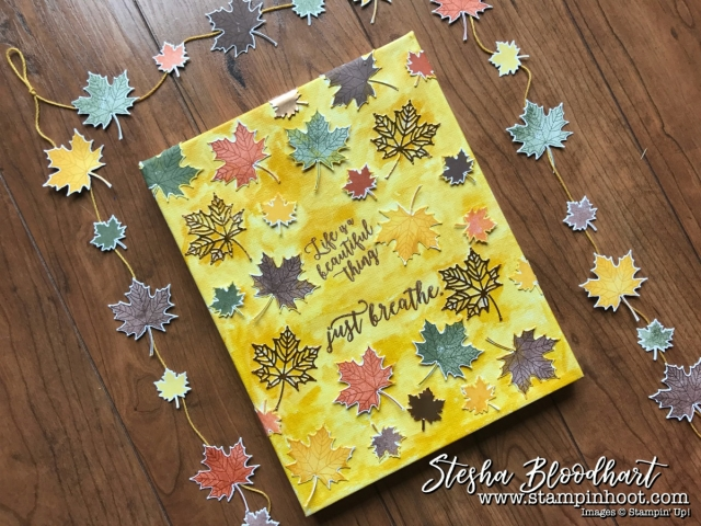 Colorful Seasons Photopolymer Bundle by Stampin' Up! 3-D Thursday Autumn Wall Art by Stesha Bloodhart, Stampin' Hoot! #wallart #autumn #colorfulseasons #bundleandsave #stampinup #stampinhoot #3DThursday #mapleleaves