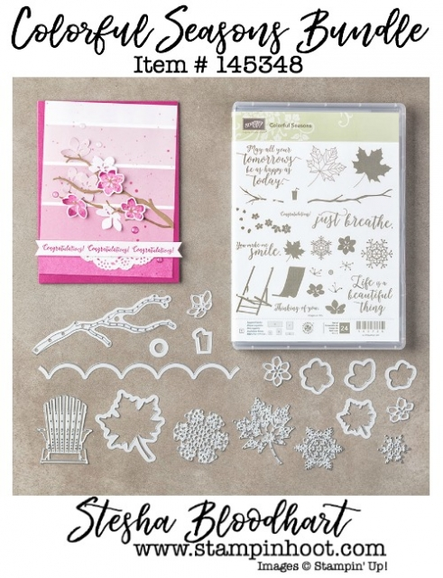 Colorful Seasons Photopolymer Bundle by Stampin' Up! Item #145348 Stamps and Coordinating Dies #stampinhoot #stampinup #bigshot #dies #stamps #seasons