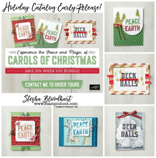 2017 Holiday Catalog by Stampin' Up! Request Your Copy Today! Stesha Bloodhart, Stampin' Hoot! #2017HolidayCatalog #stampinhoot #steshabloodhart