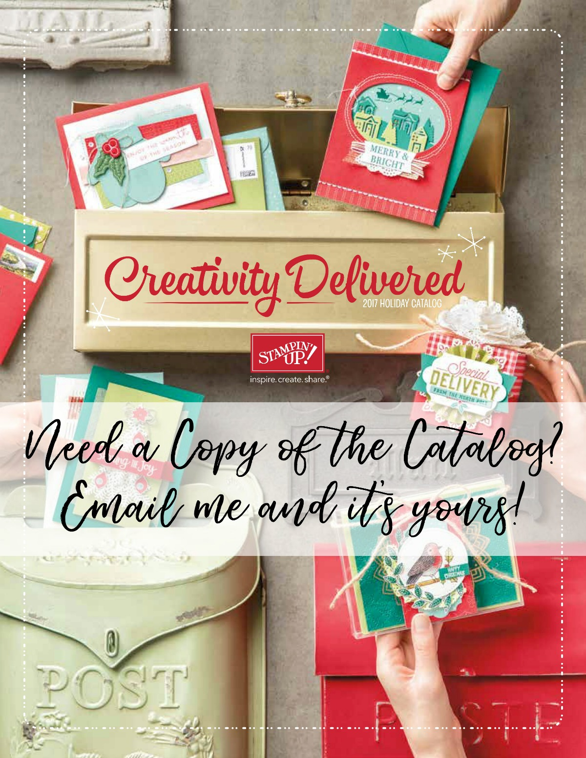 2017 Holiday Catalog by Stampin' Up! Request Your Copy Today from Stampin' Hoot! Stesha Bloodhart #2017holidaycatalog #stampinup #stampinhoot