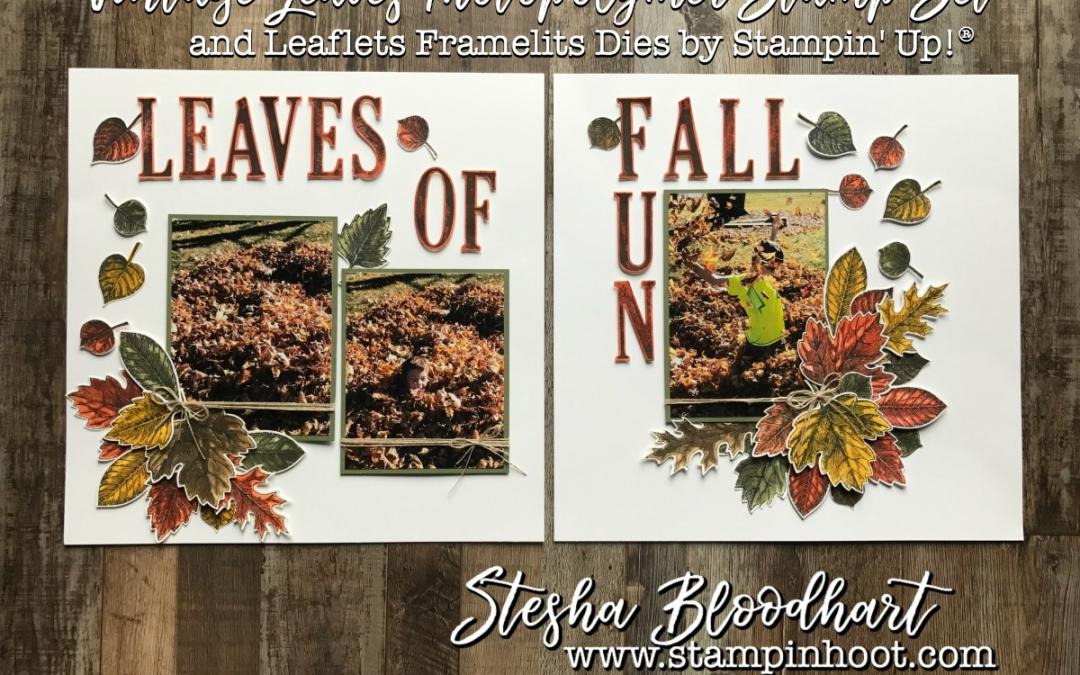 Scrapbook Sunday: Vintage Leaves of Fall Fun
